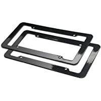Plastic Carbon Fiber Style Frames 2pc Set
