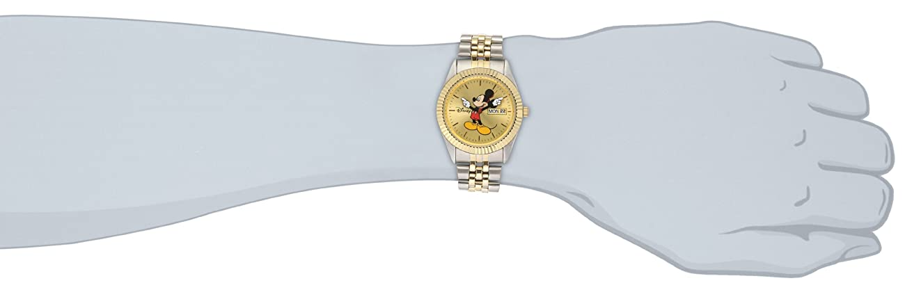 Disney Men's MM0060 Two-Tone Mickey Mouse Watch with Day and Date Movement 2