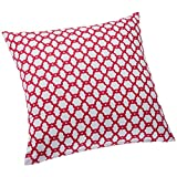 Blue Alcove Jali Cushion Cover - Pink And White (SGCC-2-2)