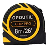 Tape measure retractable 25ft double sided inches measuring tape auto-lock power tape ruler-OPOUTIL professional 26' tape measure holder for belt