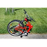 """Columba 26"""" Alloy Folding Bike w. Shimano, Red Color (RJ26A_RED)"""