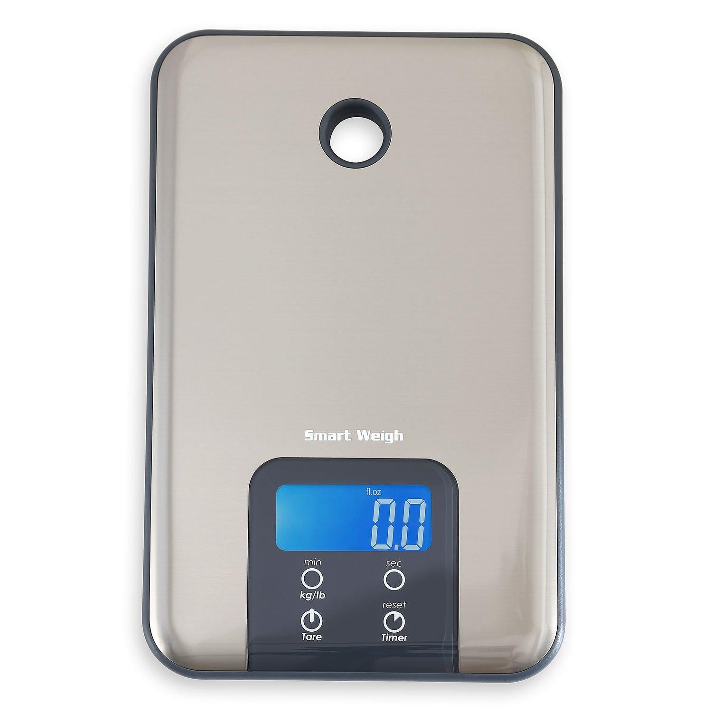 Best Digital Kitchen Scale: Smart Weigh SNT100 Slim Stainless Steel Digital Kitchen