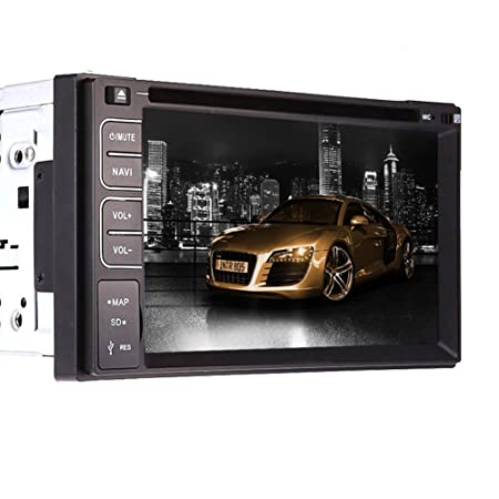"6.2 ""Lecteur DVD pouces LCD Car Radio Stereo Double Dash 2 Din Chef pont Mp3 Mp4 SD USB RDS Auto Grand contr?le LCD Volant + Bluetooth mains libres"