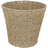 JVL Natural Round Seagrass Waste Paper Basket