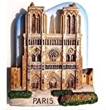 Notre Dame Cathedral Church Paris France EuropeMagnet Souvenir Thailand Handmade Design