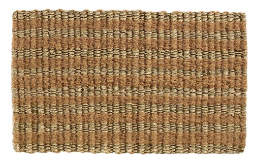 Extra Weave Eco Stripe 18 by 30-Inch Seagrass and Coir Doormat