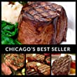 Black Angus (8) Steak Combination - Chicagos Finest Filet Mignon, Boneless Strip, Sirloin, Ribeye - Chicago Steak Company