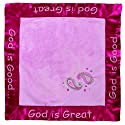 """Manual Woodworkers God Is Great Travel Blanket, Pink, 14 X 14"""""""