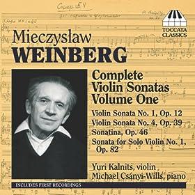 Weinberg: Complete Violin Sonatas, Vol. 1