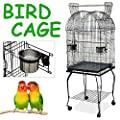 Popamazing Quality Large Pet Bird Budgie Canary Aviary Parrot Stable Cage Open Top Perches Stand Cage