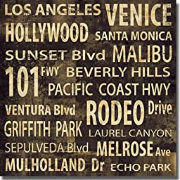 L.A. by Luke Wilson Premium Stretched Large Canvas (Ready to Hang)