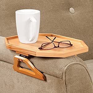 Amazon.com: Wooden Armchair Tray Honey Pine Clip On ...