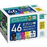 エコリカ リサイクルインクカートリッジ EPSON 4色パック IC4CL46 ECI-E464P/BOX