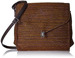 Baggit Women's Handbag (Yellow and Brown) (2062134)