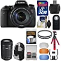 Canon EOS Rebel T6s Wi-Fi Digital SLR Camera & EF-S 18-135mm & 55-250mm IS STM Lens with 32GB Card + Backpack + Flex Tripod + Filters + Diffusers Kit