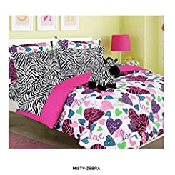 CHD 6 Piece Set Girls Bedding Collection with Matching Stuffie Comforter Set, Twin, MISTY