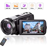 Camcorder Video Camera Full HD Camcorders 1080P 24.0MP Vlogging Camera Night Vision Pause Function with Remote Controller (Color: M01)