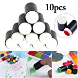 Drawing Sponge,10PCS Finger Sponge Dauber Set Ink Crafts DIY Drawing Sponge Finger Painting Tool Paint Sponge Brush Kids Paint Tool for Kids Christmas Gifts (Color: BlackandWhite, Tamaño: one size)