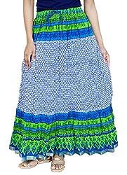 Rangreja Women's Skirt (WSK132BW36_Blue_36)