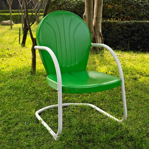 Crosley Furniture Griffith Metal Chair, Grasshopper Green