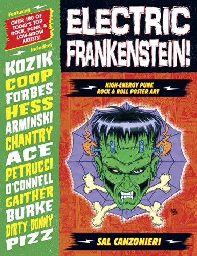Electric Frankenstein! High-Energy Punk Rock & Roll Poster Art