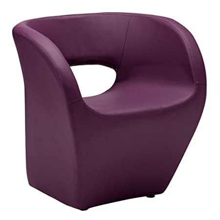 Protege Homeware Purple Leather Effect Aldo Chair