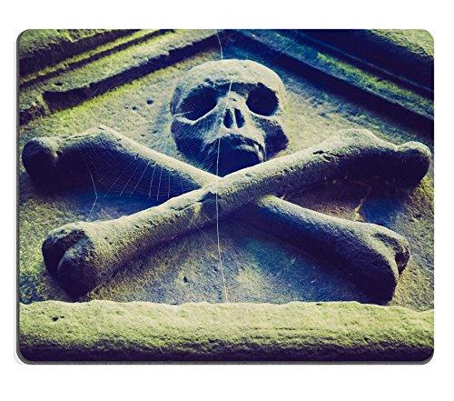 Luxlady Mousepads in gomma naturale, stile Goth gioco Vintage, motivo: teschio e ossa, in stile gotico, da un ID 27525724 churchyard IMAGE
