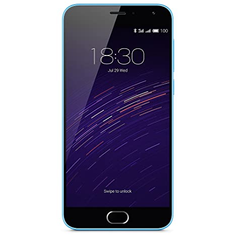 Meizu M2 Smartphone débloqué 4G (Ecran: 5 pouces - 16 Go - Double Nano SIM - Android 5.1 Lollipop) Bleu