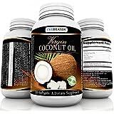 CKLBRANDS Organic Cold Pressed & Unrefined Virgin Coconut Oil Capsules - 3000mg per Serving