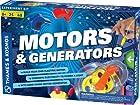 2 Item Bundle: Thames & Kosmos 665036 Motors & Generators Science Experiment Kit + Free Kids Coloring Book