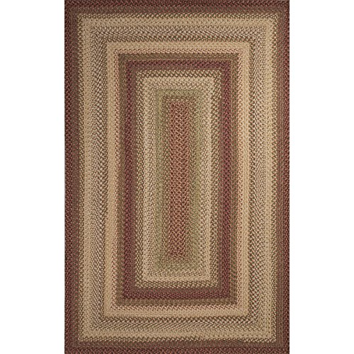 1.65' x 2.5' Misty Rose Root Beer Brown and Beige Braided Barcelona Textured Area Throw Rug