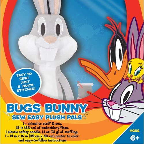 Warner Brothers Looney Tunes Make Your Own Plush Kit, Bugs Bunny