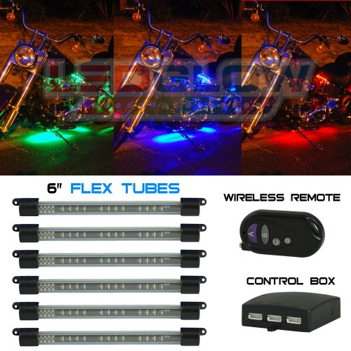 6pc Flexible LED Million Color Motorcycle Kit