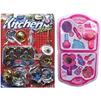 Combo Of Kitchen Play Set & Fashion Beauty Set
