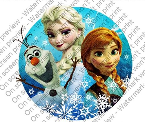 Whimsical Practicality Frozen Olaf Snowman Anna and Elsa Sisters Cake Topper - 1