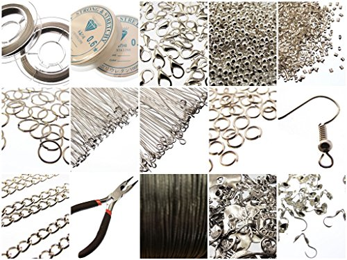large-jewellery-making-components-starter-kit-inc-tools-cords-findings-instructions