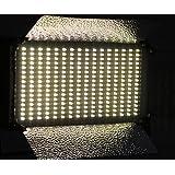 ePhoto Dimmable BI Color 500 LED Video Photo Color Changing 3200K - 5500K Light Panel & V Mount Adapter 110V-240V VL500-2C