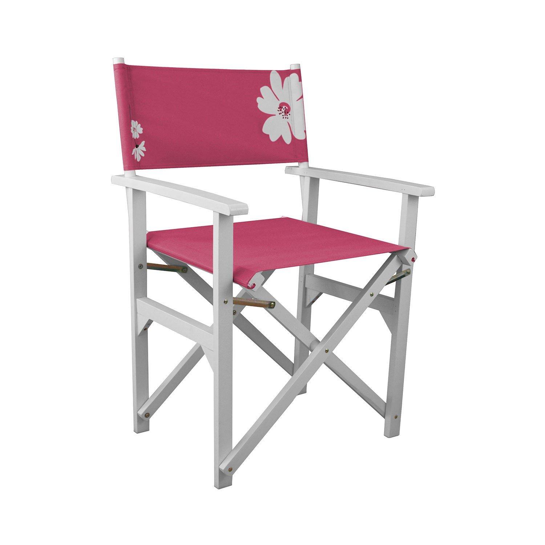 Regiestuhl mit Armlehnen Campingstuhl Faltstuhl Gartenstuhl Klappstuhl klappbar – Pink günstig online kaufen