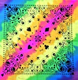 Bandana head neck wear scarf snowboard Rainbow Fusion