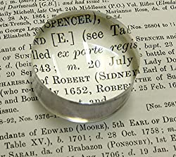 2.5 Inch Dome 4X Magnifier with Polishing Pouch, Reading Magnifying Glass (65mm)