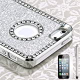 Pandamimi iphone 5 case – Deluxe Sliver Diamond Rhinestone Glitter Bling Chrome Hard Case Cover for Apple iPhone 5 5G , Screen Protector and Stylus Reviews