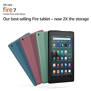 All-New Fire 7 Tablet (7 display, 32 GB) - Twilight Blue (Color: Twilight Blue)