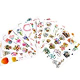 Molshine 11sheets A5 Size (About 150pieces) Cleavable Stickers -Spring Plant Flowers, Characters, Animals Series Decals for DIY,Bullet Diary Decoration,Laptops,Scrapbook,Luggage,Cars,Books,Sealing (Color: WT-345)