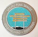 Mount Kilimanjaro Uhuru Peak Iron on Patch / 3.5 Inch Embroidered Tanzania Trekking Badge Souvenir