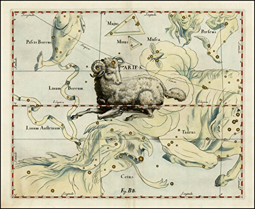 Modern-poster-of-1687-antique-celestial-chart-print-by-Johannes-Hevelius-from-Firmamentum-Sobiescianum-sive-Uranographia-ARIES-ZODIAC-and-surrounding-constellations-27