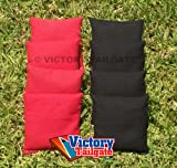 Cornhole Bags Set - 4 Black & 4 Red
