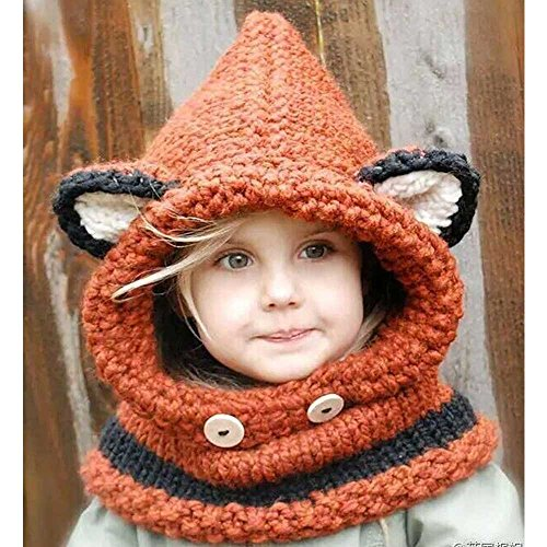 warm-cute-fox-animal-hats-knitted-coif-hood-scarf-beanies-for-winter