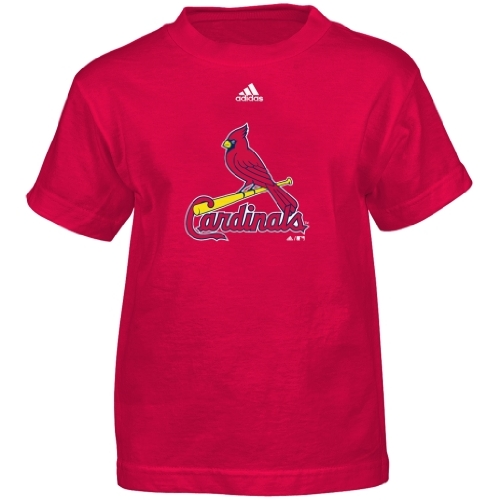 MLB St. Louis Cardinals Boy's Team Logo Short Sleeve Tee, Red, Large at Amazon.com