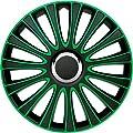 Autostyle PP 5134G Satz Radzierblenden LeMans 14-Zoll, Schwarz/Grün von AutoStyle bei Reifen Onlineshop