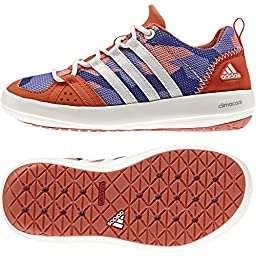 adidas B35598 Kids Climacool Boat Lace K, Semi Night Flash/Chalk White/Flash Orange, 11K